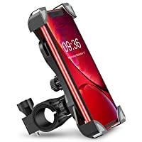 Bovon Anti-Shake Bike Phone Mount, 360 Rotation Universal Bicycle Motorcycle Phone Mount Holder Stand Cradle Clamp Compatible with iPhone 12 Pro Max/12 mini/12/11 Pro/XR/XS MAX, Samsung Galaxy S20