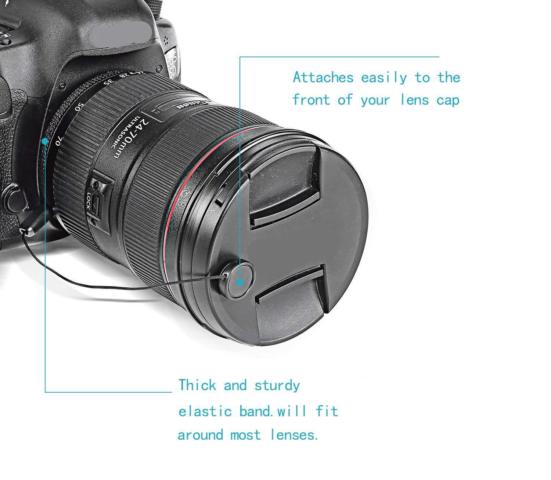 Txibi 4PCS Lens Cap Leash Lens Cap Keeper Holder Prevent Lens Cap Lost Compatible for DSLR SLR Camera Canon//Nikon//Sony//Panasonic//Fujifilm Camera and More