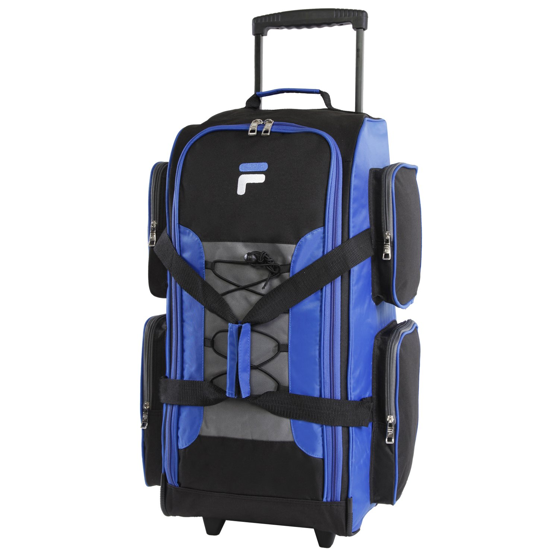 Fila 26'' Lightweight Rolling Duffel Bag, Blue, One Size by Fila (Image #1)