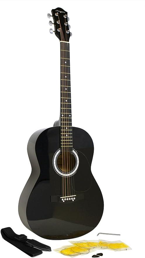Martin Smith kit de guitarra acústica con cuerdas de guitarra negro púas de guitarra correa de la guitarra: Amazon.es: Instrumentos musicales