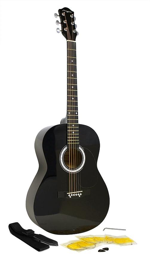 Martin Smith W-100-BK-PK - Paquete de guitarra acústica con cuerdas