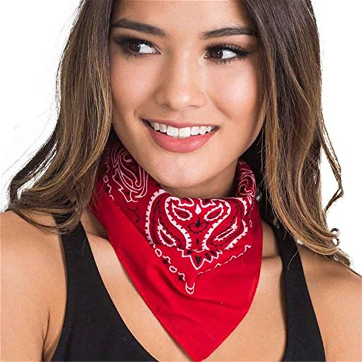 Bandana Kopftuch Halstuch - Tuch Paisley 100% Baumwolle Halstuch Kopftuch Schal