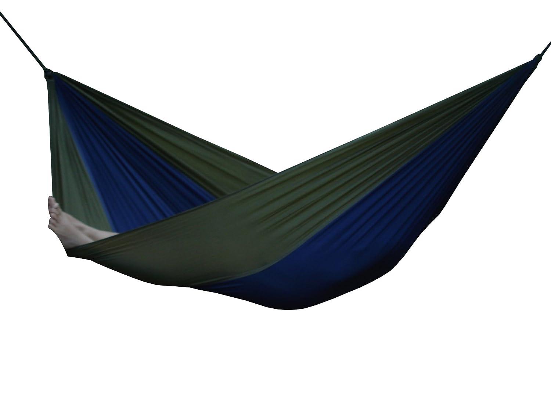 Vivere PAR14 Amaca Paracadute, Nylon, Solo 305 x 140 cm, capacità 118kg, Beige/Blu Navy individuel multicolore