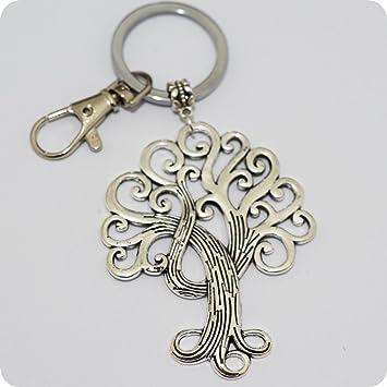 Árbol de la vida llavero, llavero, diseño de árbol de la vida, mejor amigo, BFF Regalos, la naturaleza árbol de llavero, encanto, personalizado ...
