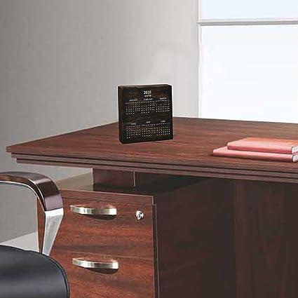 M&M Solid Wood with Antique Finish Desktop Calendar Table
