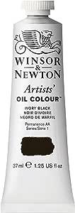 Winsor & Newton Artists Oil Colour Paint, 37-ml Tube, Ivory Black