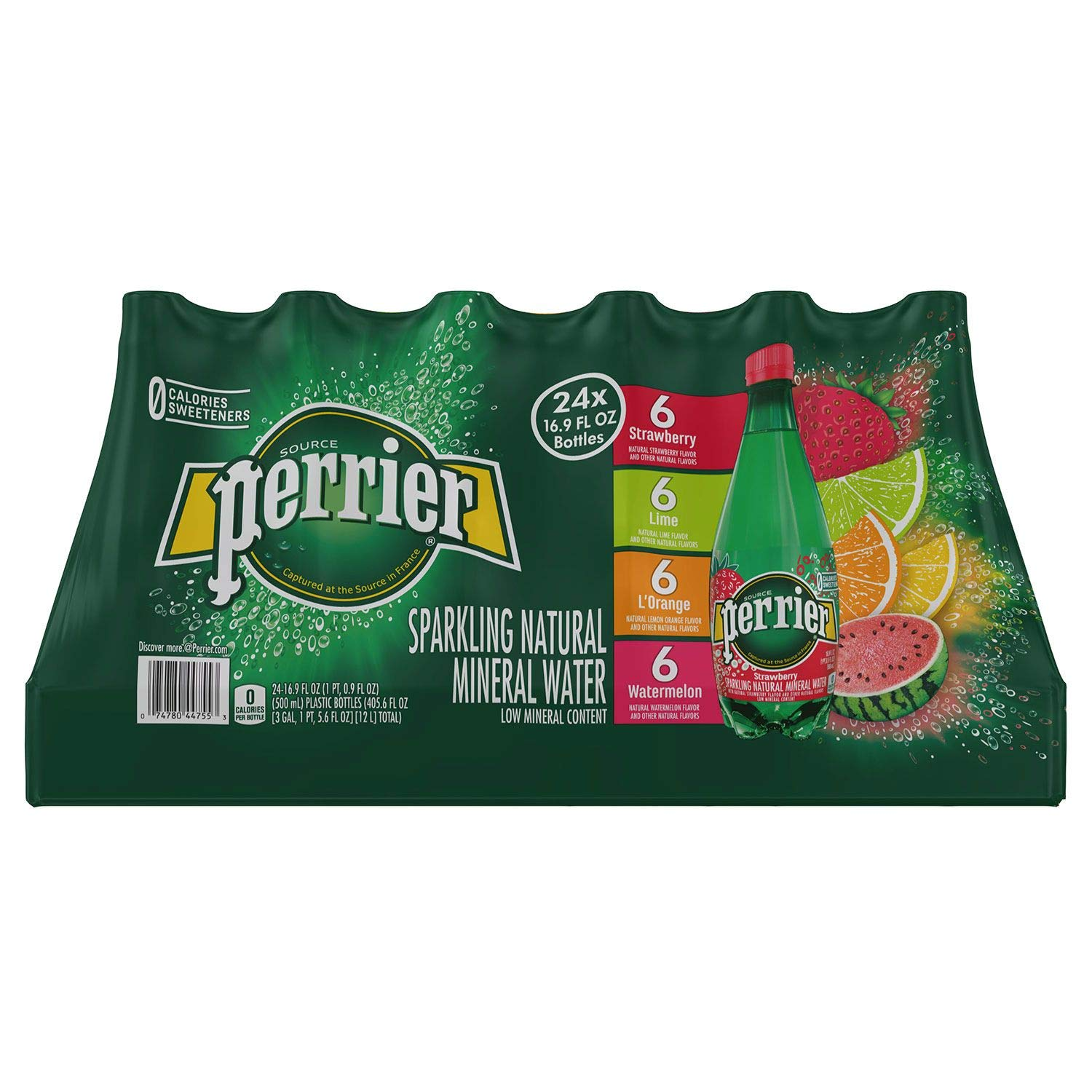 Perrier Sparkling Natural Mineral Water, (Assorted Flavors, 16.9 Fl. Oz (Pack of 24)) by Perrier