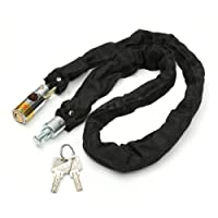 Motoway Bike Motorcycle High & Heavy Helmet Lock & Chain Lock 80cm W/ 2 Key Bike Motorcycle