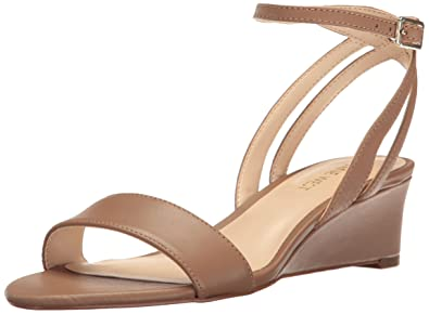 Womens Nine West Qualify Sandals Natural/Natural Leather DRX56982