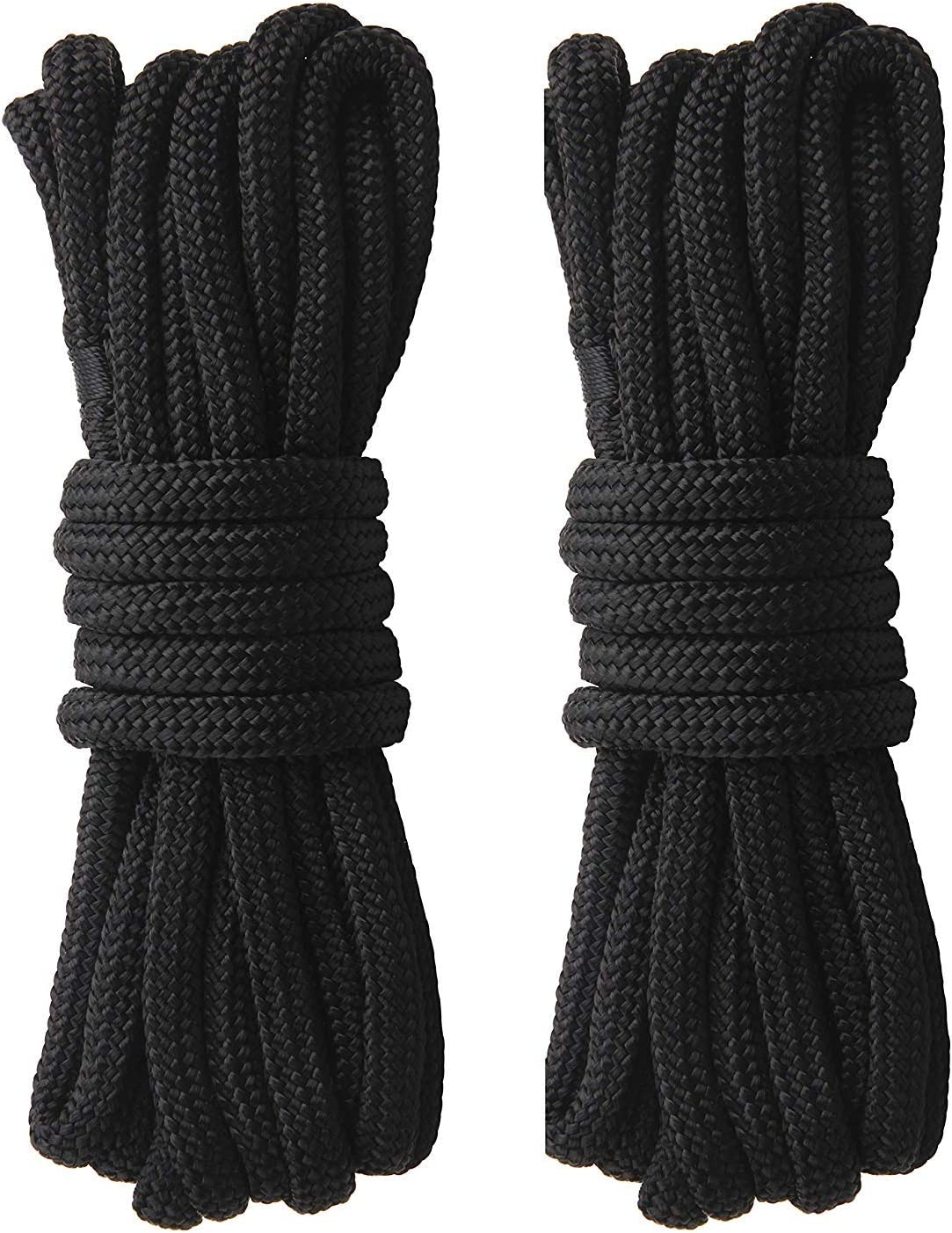 Shaddock Fishing Docking Lines Double-Braided Nylon Anchor Rope 1//2 Inch Boat Mooring Rope with 12 Inch Eyelet for Boats 25 FT,50 FT