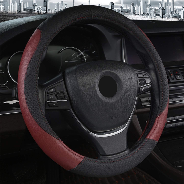 WeinRot SFONIA Auto Lenkrad Abdeckung Lenkradschutz Lenkradh/ülle PU Leder Universal 37-38cm//15 Rutschfest Atmungsaktiv Langlebig