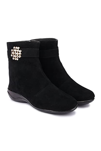 660aef65eee TEQTO Stylish Fashionable Trendy Footwear Collection -Suede Long Boot For  Women   Girl-Black