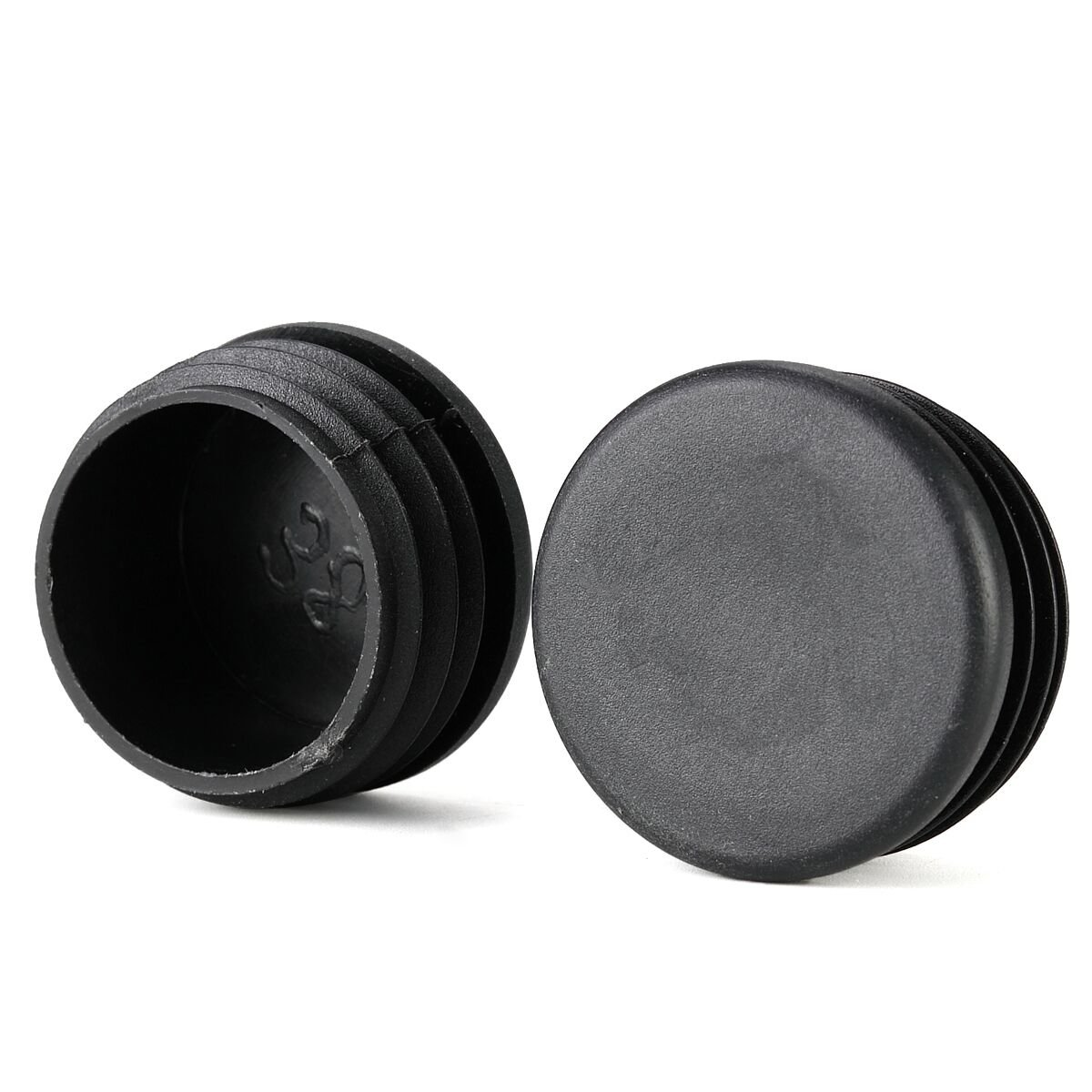 1 1 2 inch round cup patio furniture insert glide end black cap for outdoor wrought iron tables chairs 25 pack amazon com
