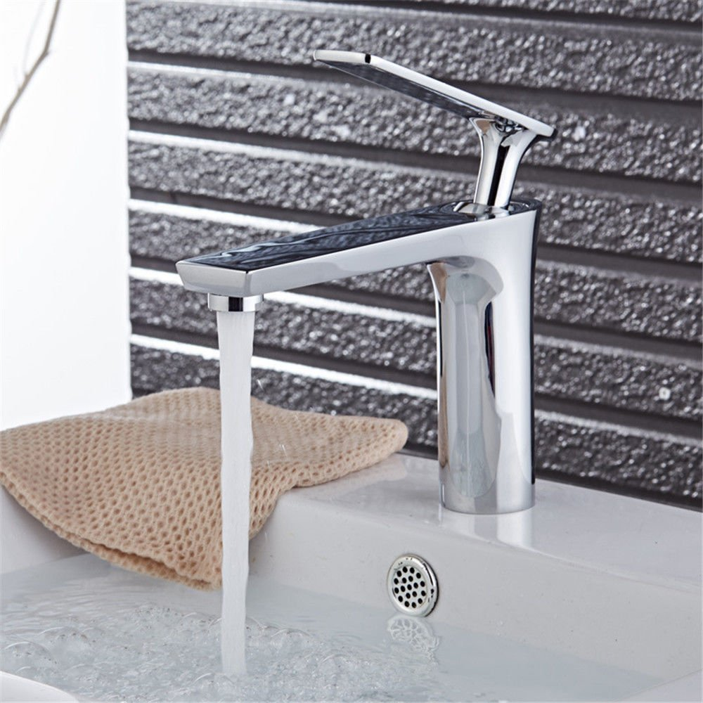 Modern Copper Long Back hot and Cold Basin Faucet Bathroom Bathroom Faucet