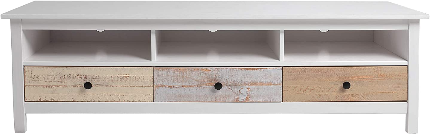 VS Venta-stock Mueble TV Magda Color Blanco/Multicolor, Madera de ...