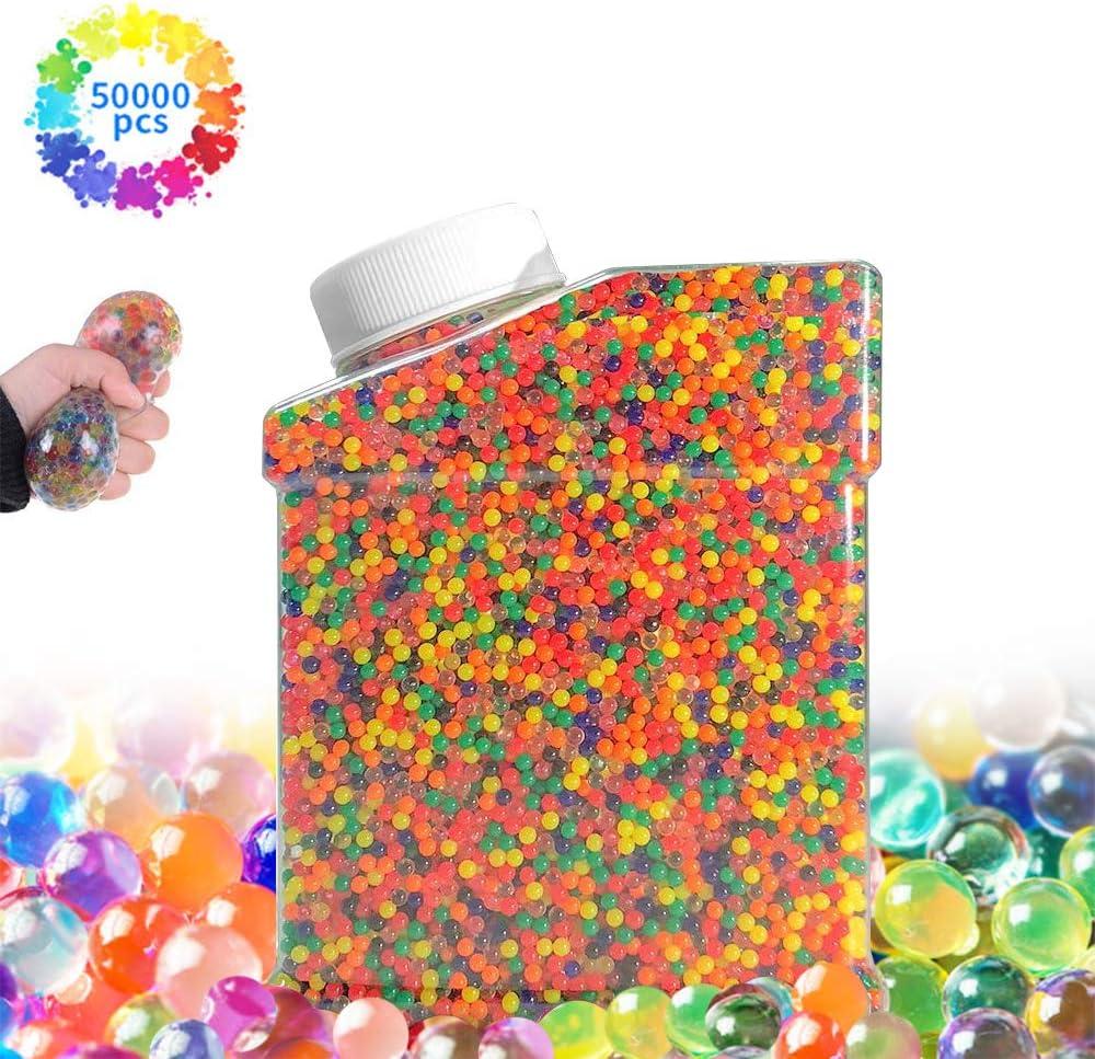 50,000 PCS Mezclados cristalino Hidrogel Bolas de Gel para Decoraci/ón Perlas de Gel para decoraci/ón Giftpot Bolas de Gel de Agua Plantas Perlas de Agua para Ni/ños Flores