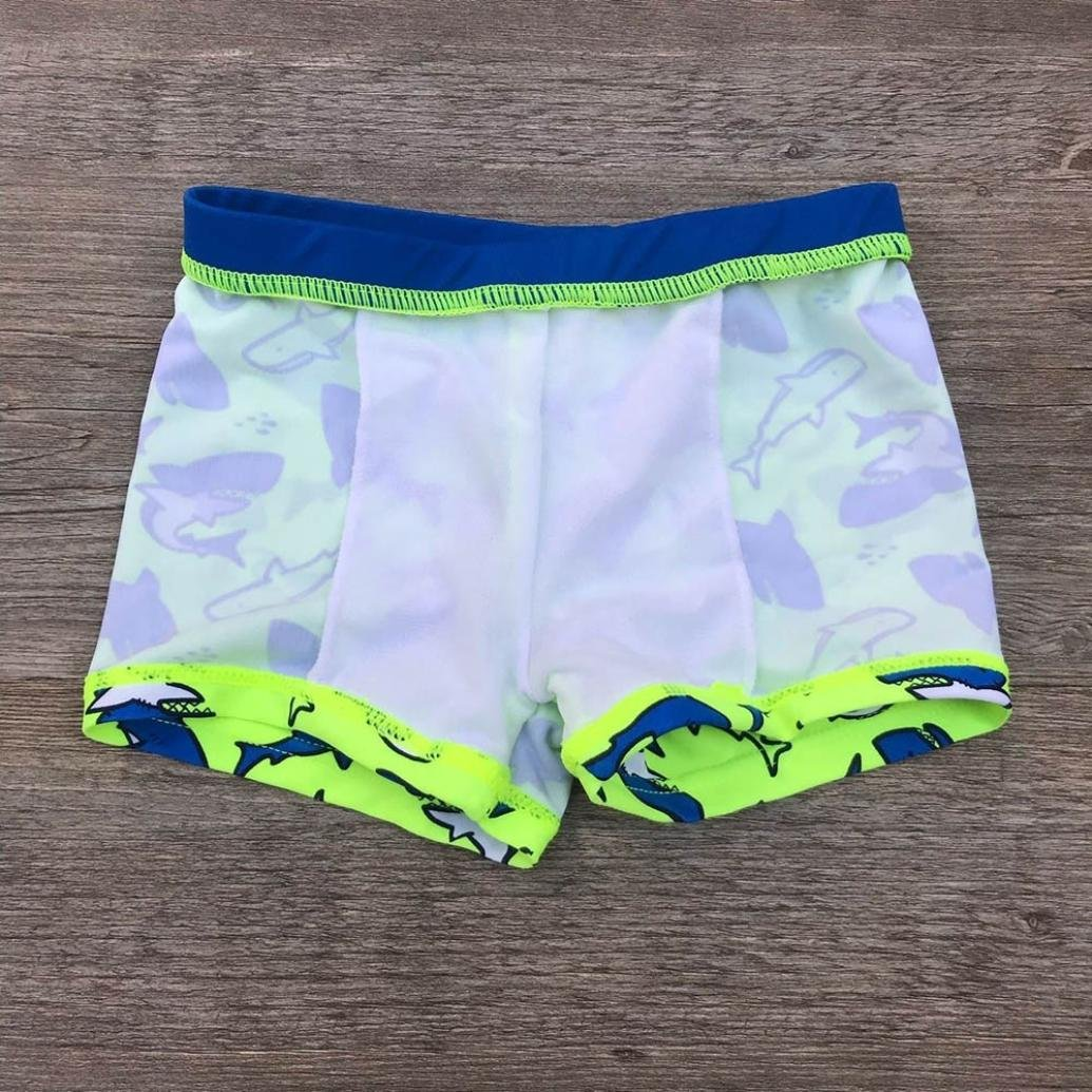 SUNBIBE Cute Kids Baby Clothes Boys Shark Print Stretch Beach Swimsuit Swimwear Pants Shorts