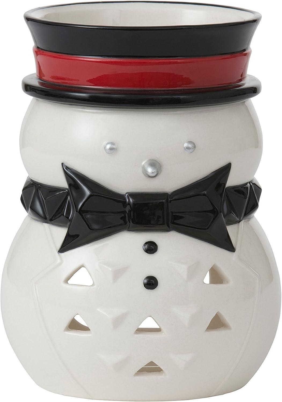 11.4/x 11.4/x 15,6/cm YANKEE CANDLE 1521478/JF//PP tlh Snowman Lumi Nary Photophore en c/éramique Rouge Noir Blanc Argent