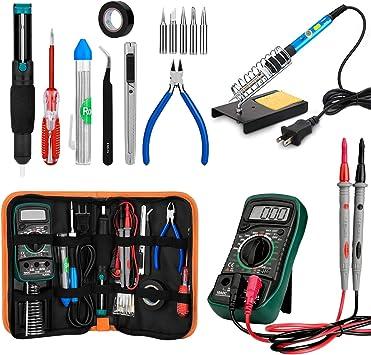 18in1 Soldering Iron Gun Kit Electronics 60W Adjustable Temperature Welding Tool