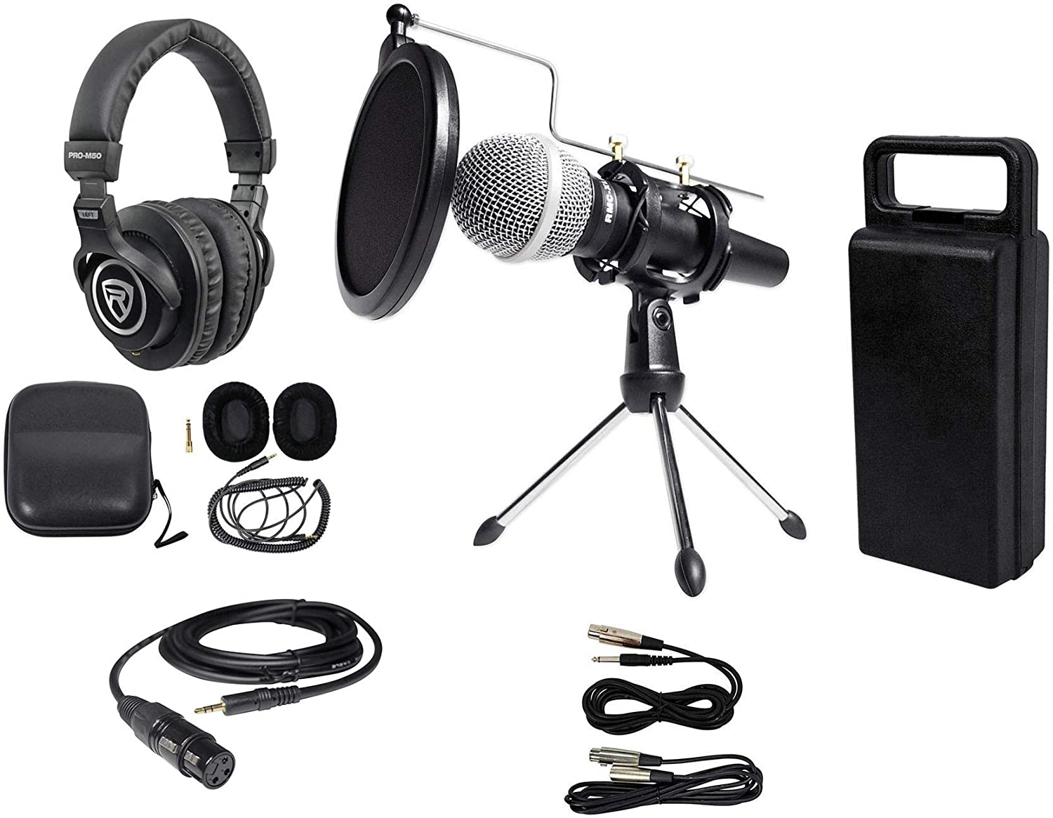 Rockville PC Podcasting Podcast Streaming Bundle w/Microphone+Stand+Headphones