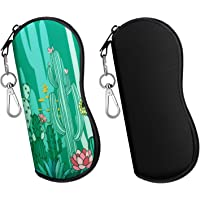 MoKo Sunglasses Soft Case 2 Pack, Ultra Light Portable Neoprene Zipper Glasses Soft Case, Eyeglass Safety Pouch Zipper…