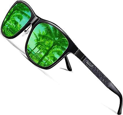 Men Women Sport Polarized Sunglasses Driving Night Vision Outdoor Square Glasses
