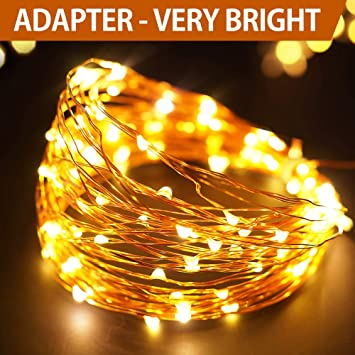 Bright Zeal 33' Very Bright LED Warm White Christmas String Lights - Warm  White LED String Lights for Bedroom with Timer - Warm White Fairy Lights  Plug in ... - Amazon.com: Bright Zeal 33' Very Bright LED Warm White Christmas