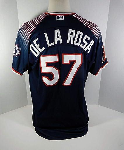 b136626e8827b Reno Aces Rubby De La Rosa  57 Game Used Blue Jersey - Game Used MLB ...