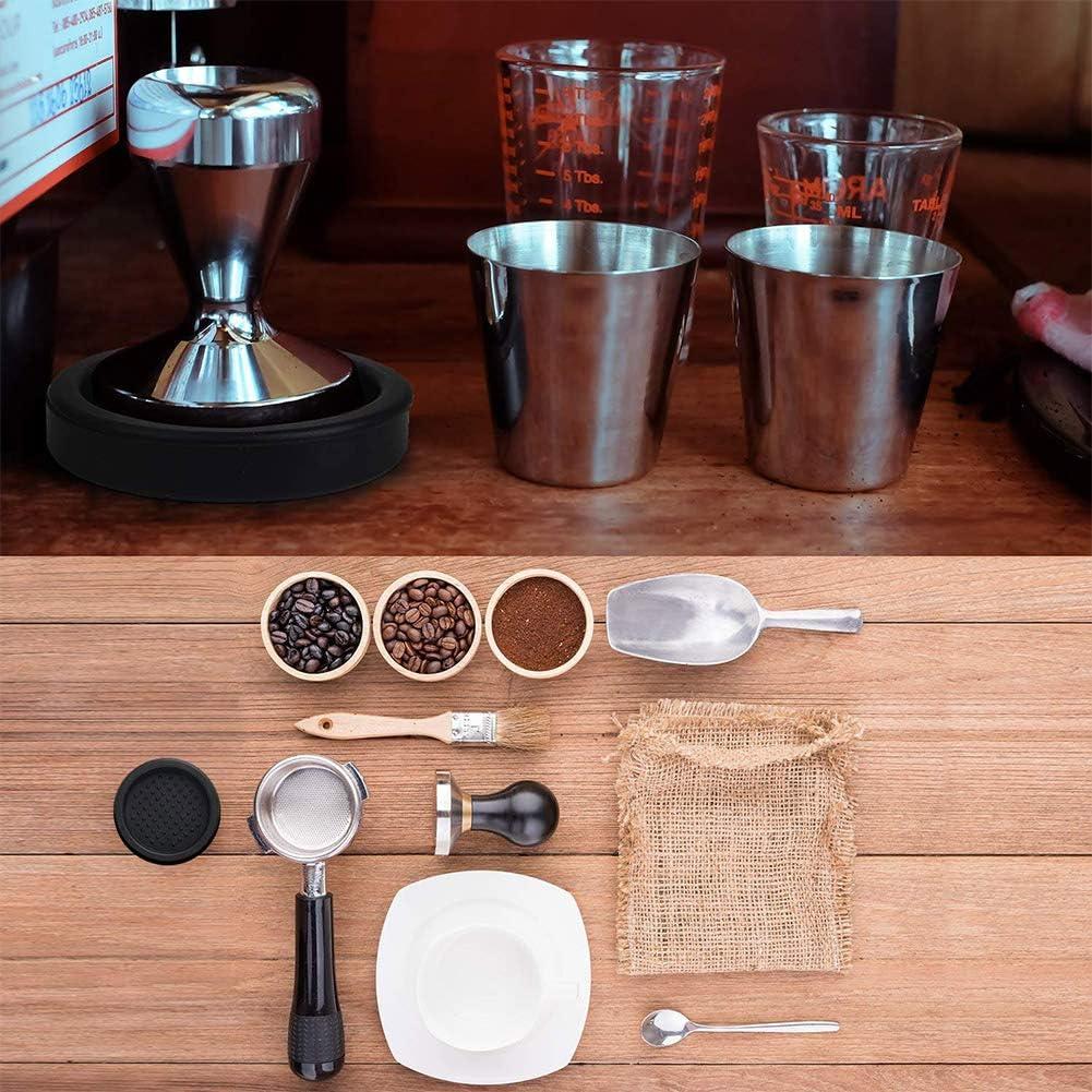 tapete redondo de silicona para apisonamiento antideslizante prensa de caf/é y harina para portador de filtro de cafetera Tapete de silicona para caf/é expreso 3.16 pulgadas seguro para alimentos