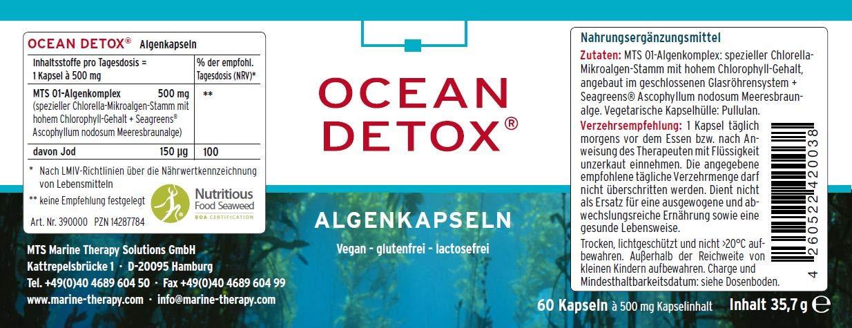 Cápsulas de algas Ocean Detox. Pack de una unidad de 50 g ...