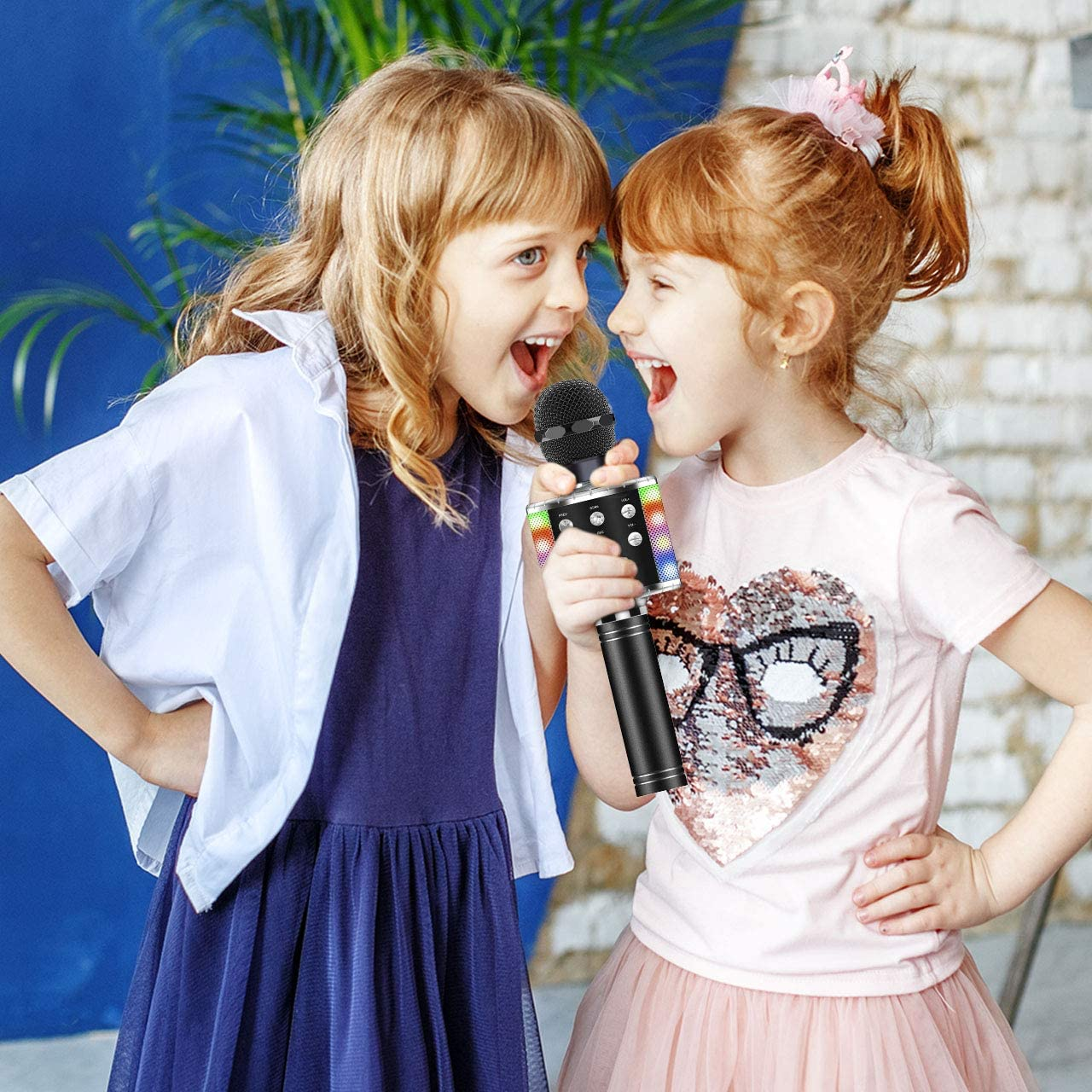 ATOPDREAM Multifunktionale Bluetooth Mikrofon Gute Klangqualit/ät Sch/önes Aussehen Kinder
