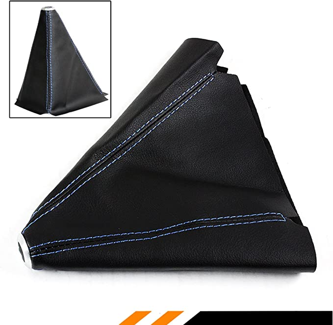 stitching color grey VW Polo 9N Shift Boot Leather black