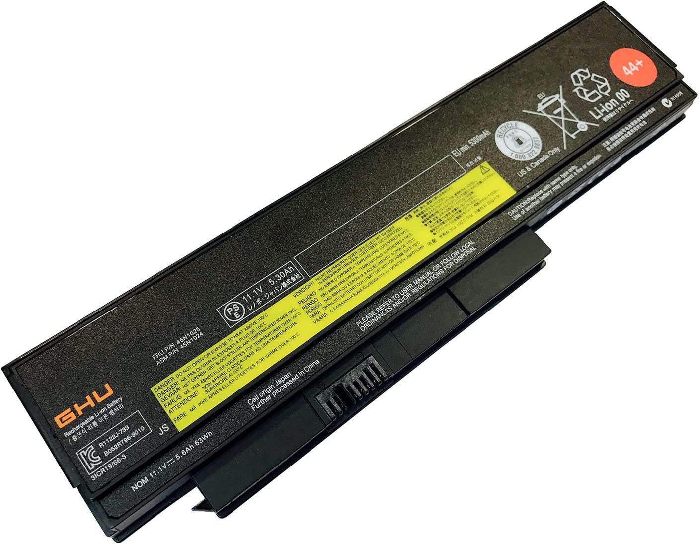 New GHU Battery 44+ 63 WH Replacement for 0A36306 0A36307 0A36305 Compatible for Lenovo ThinkPad X230 X230i X220 X220i 45N1025 45N1027 45N1029 42T4873 42Y4874 42T4901 42T4902 42Y4940 45N1027