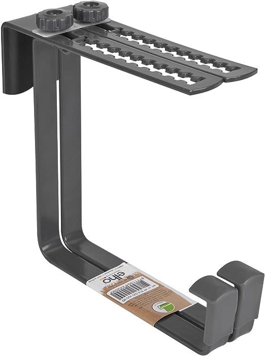 Elho 6981602042500 Green Basics In Metallo Balcone Bracket-Antracite
