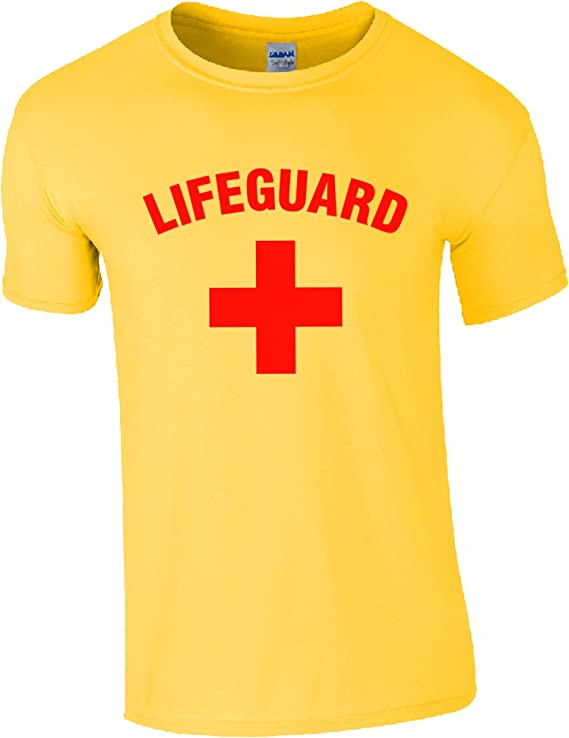 Lifeguardgear Short pour ma/ître-nageur rouge//jaune cordon de serrage jaune