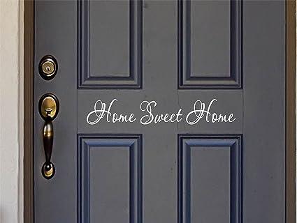 The Vinyl Design Company Home Sweet Home Vinyl Door Decal Sticker    26u0026quot; W X