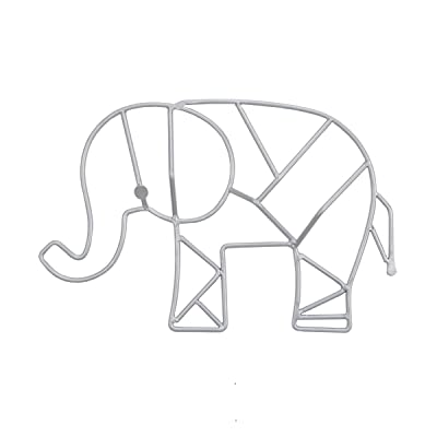 NoJo Elephant Shaped Wire Nursery Wall Decor, Finish, Grey (3099961P) : Baby