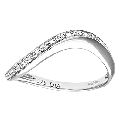 Naava Diamond Pave Set 9 ct White Gold Eternity Ring J9gUU