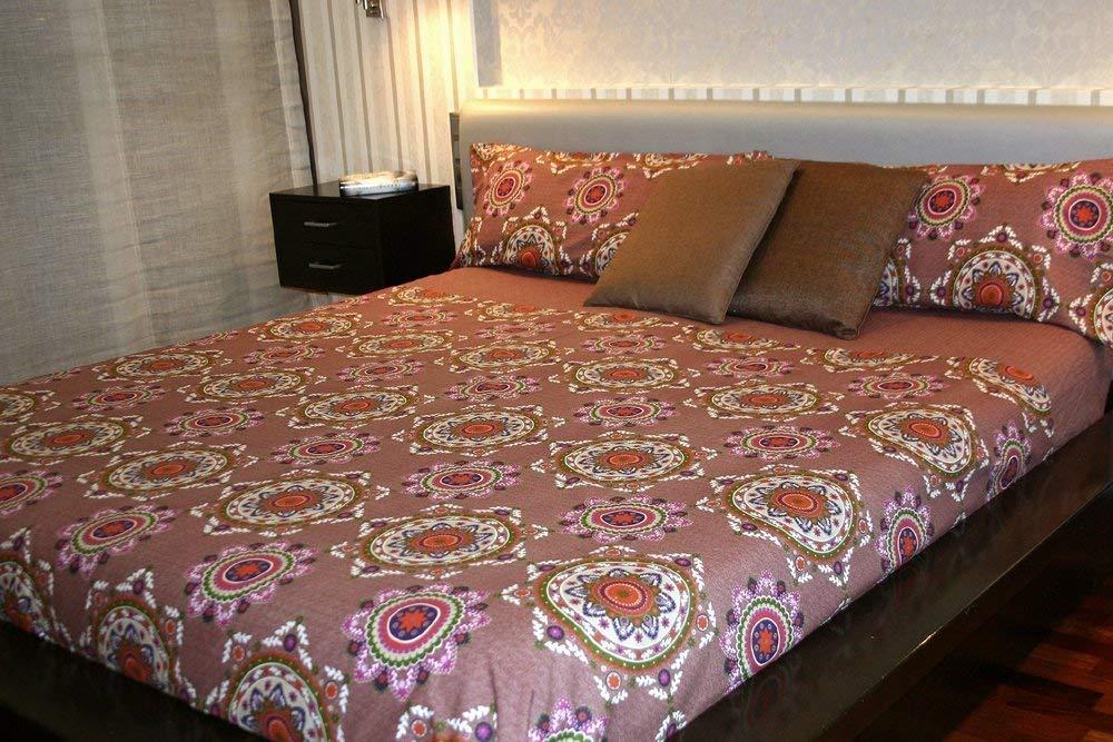 Montse Interiors Parure de lit imprim/ée para cama de 90x190//200 Sable