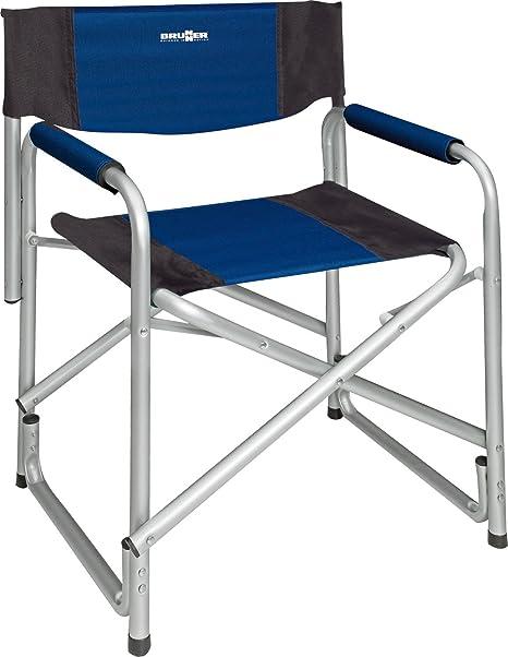 Brunner aluminio silla plegable silla de camping tipo de director Bijou AzulNegro