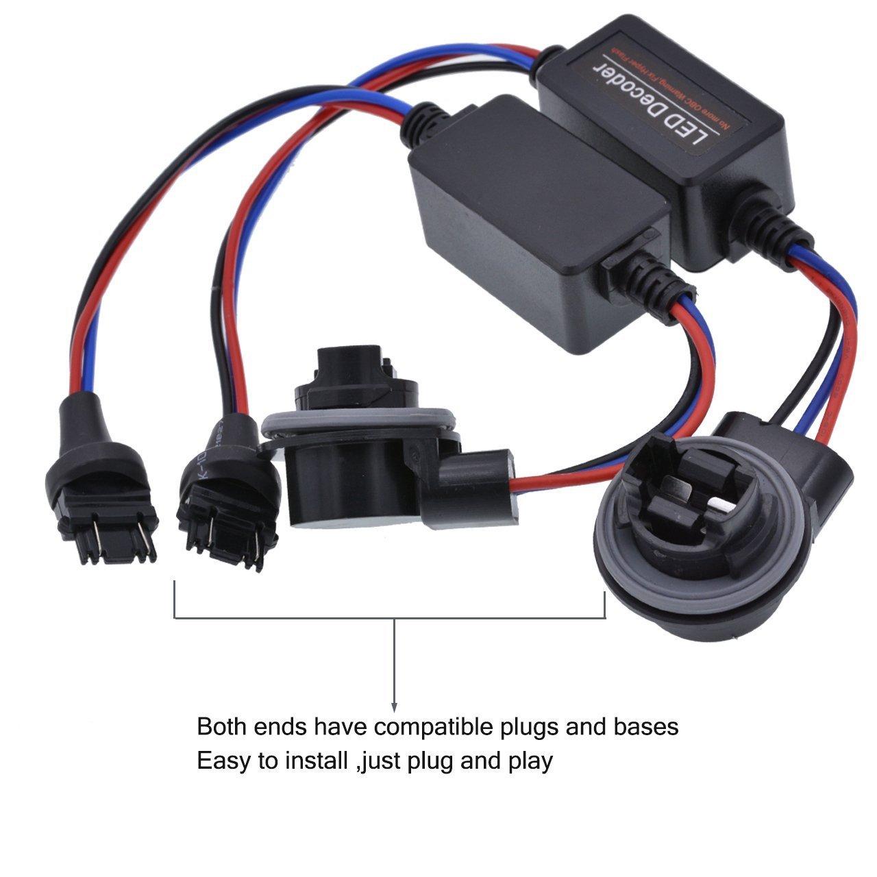 Saideng 2 Pcs Led Load Resistor Car Decoder 1157 Installing Wiring Harness In A Bmw Bay15d P21 5w Warning Error Canceller Turn Signal Light Lamp Anti Flicker Automotive