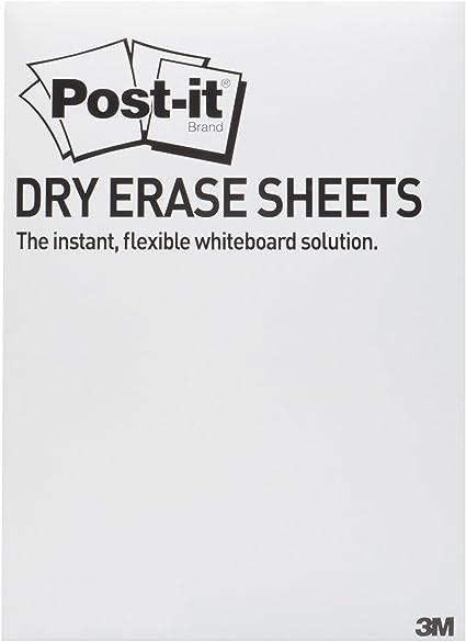 Post-it,Lavagna Cancellabile Post-it Super Sticky in Rotolo,Lavagna Adesiva da Parete 121.9 X 182.9 Cm Colore Bianco
