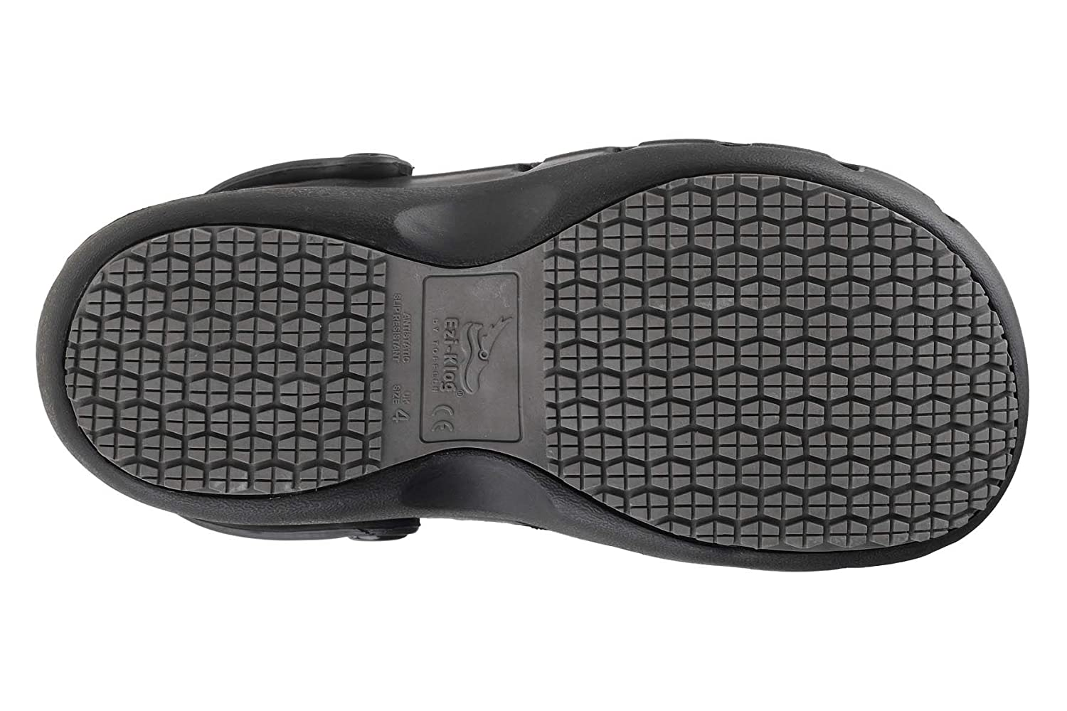 Perfect for Nurses and Doctors Black Lightweight Shock Absorbing Anti-Static Materials Slip Resistant Grip Excellent Breathability Comfortable Toffeln EziKlog Clogs Grip-Safe Sole