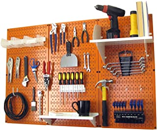 product image for Pegboard Organizer Wall Control 4 ft. Metal Pegboard Standard Tool Storage Kit with Orange Toolboard and White Accessories