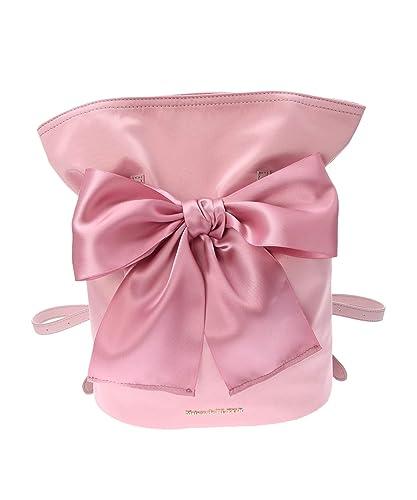 df906297c53f Amazon.co.jp: [メゾン ド フルール] 巾着リボンリュック 81183J50010 Pink: シューズ&バッグ