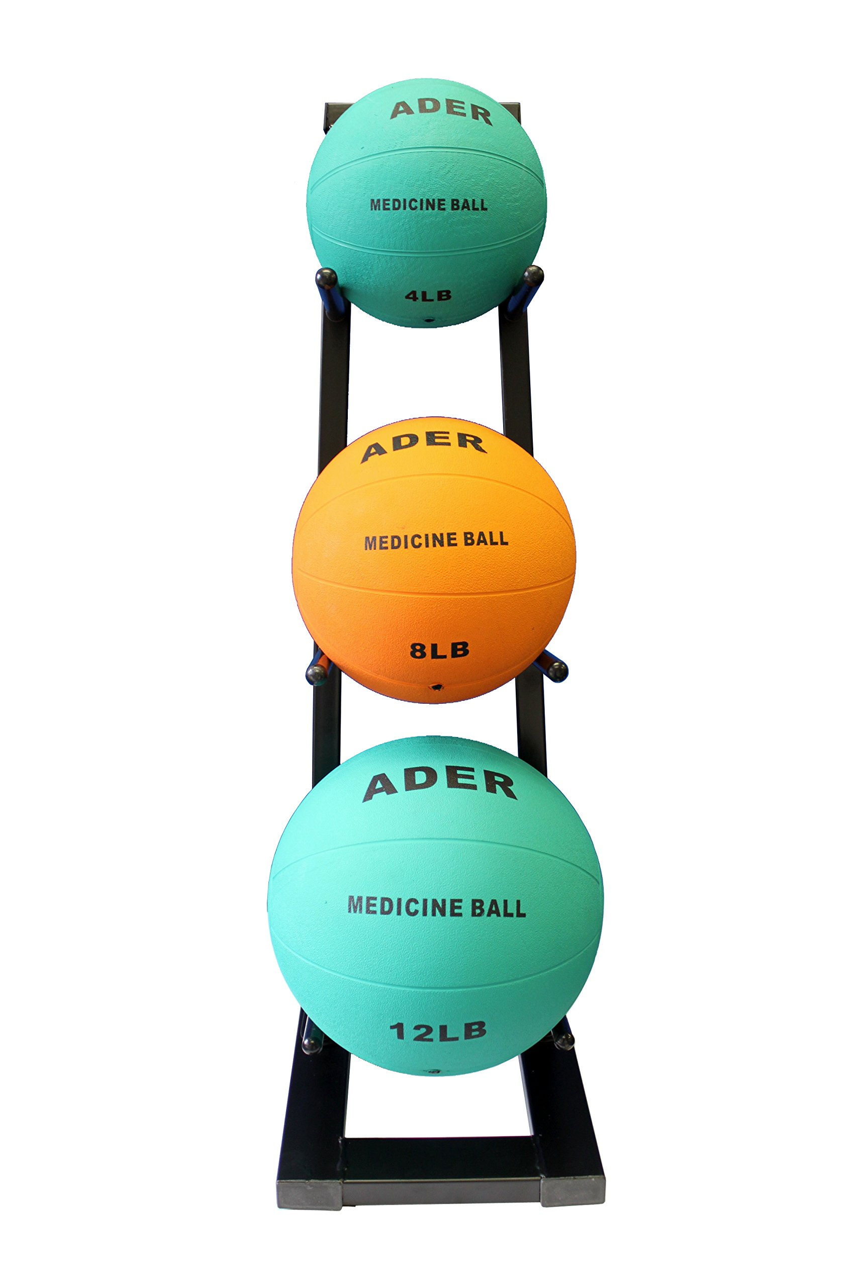 Ader Medicine Ball Set w/Rack (Rack + 8-12-25 LB Med Balls) by Ader Sporting Goods (Image #1)