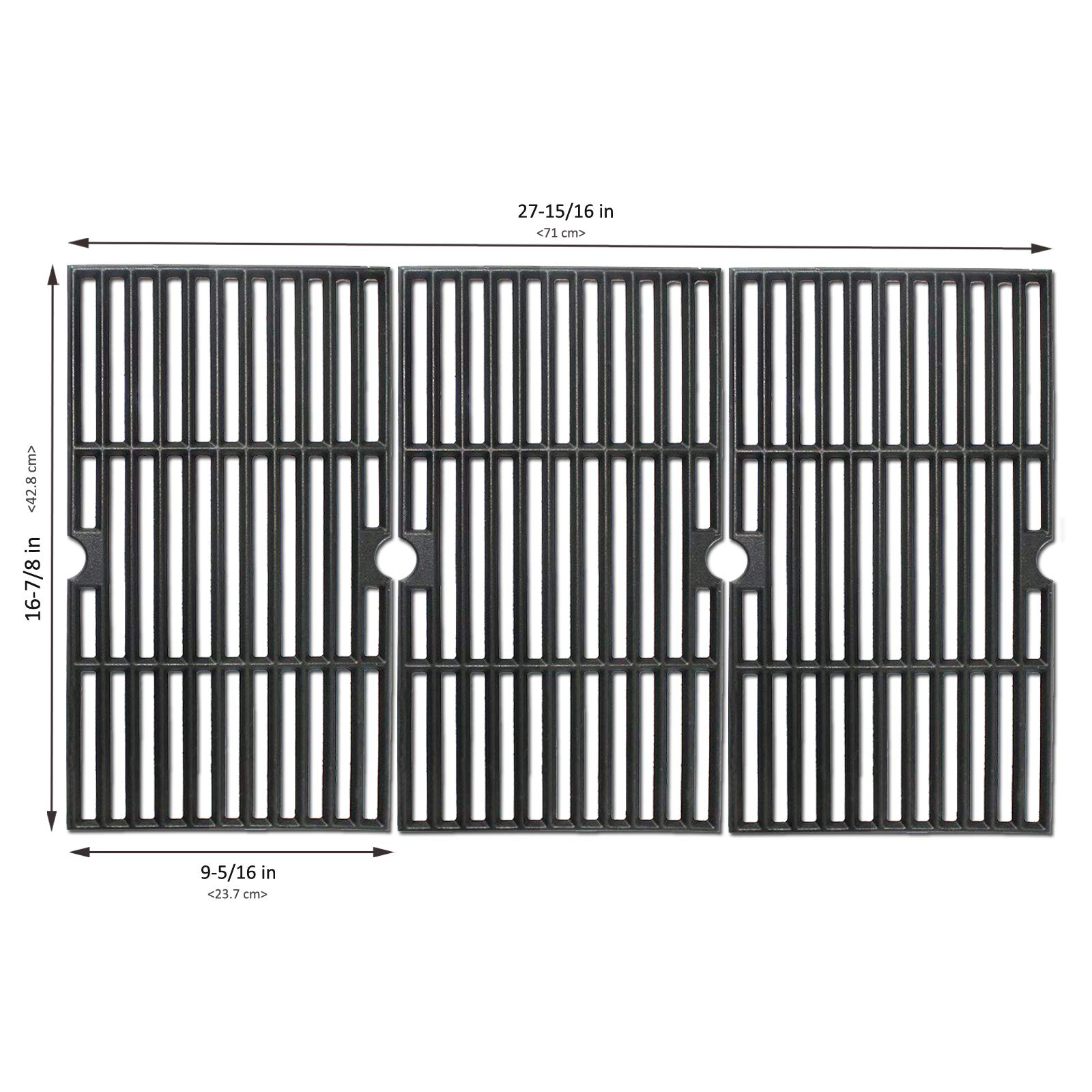 BBQMall Cast Iron Grill Cooking Grate Fit for Charbroil 463420508, 463420509, 463420511, 463436213, 463436214, 463436215, 463440109, 463441312, 463441514, 463461613 Gas Grills by BBQMall