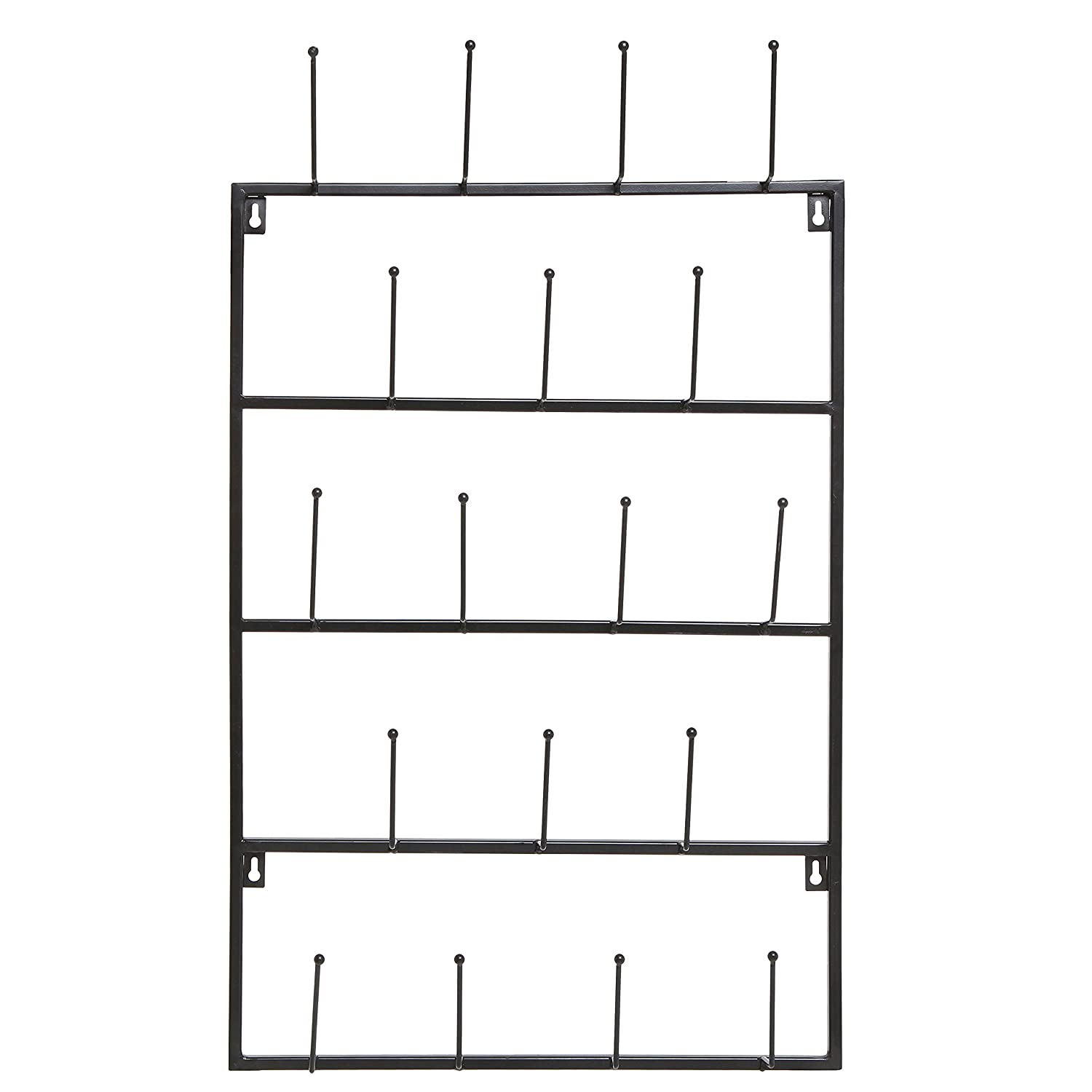 Farmhouse kitchen decor idea: black metal wall mounted rack for mugs!