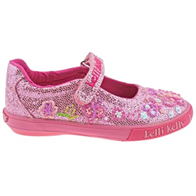 2d1abc9503b74 Lelli Kelly Glitter Butterfly Girls Canvas Shoes: Amazon.co.uk: Shoes & Bags