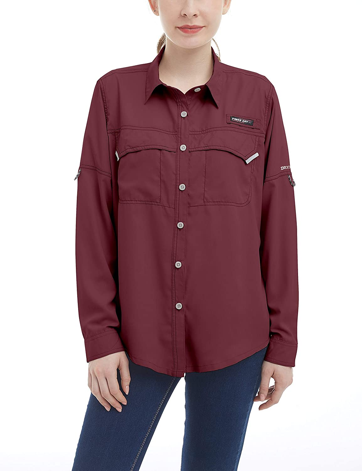 Little Donkey Andy Women's UPF 50+ UV Protection Shirt, Long Sleeve Fishing Shirt, Breathable and Fast Dry